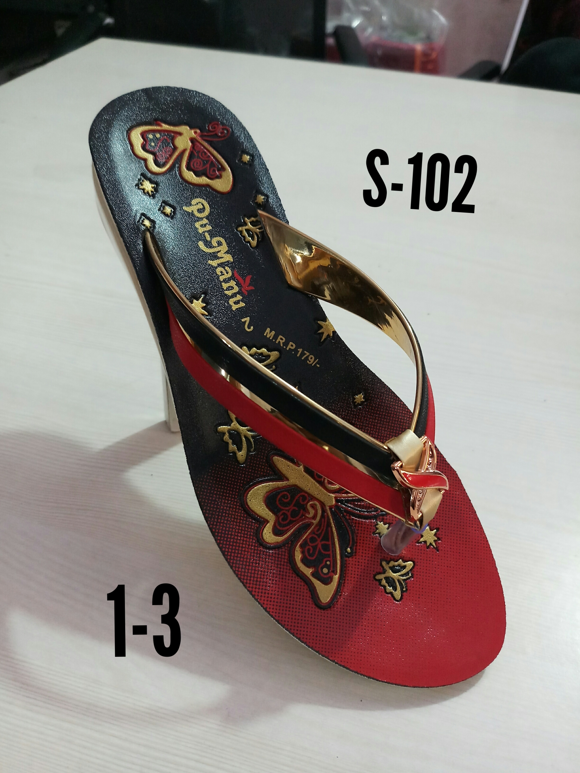 Women Synthetic Leather Slipper