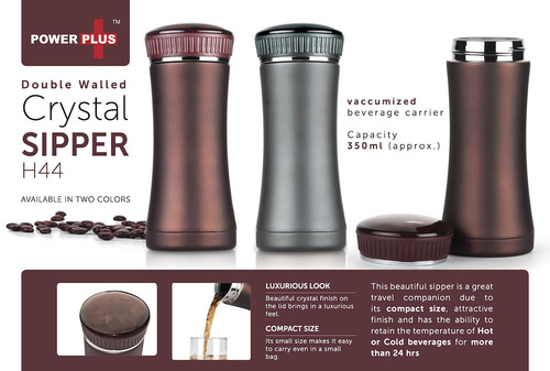 Power plus Crystal sipper (350 ml approx)