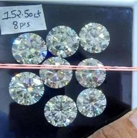 Moissanite Daimonds [near white] Round Brilliant Cut