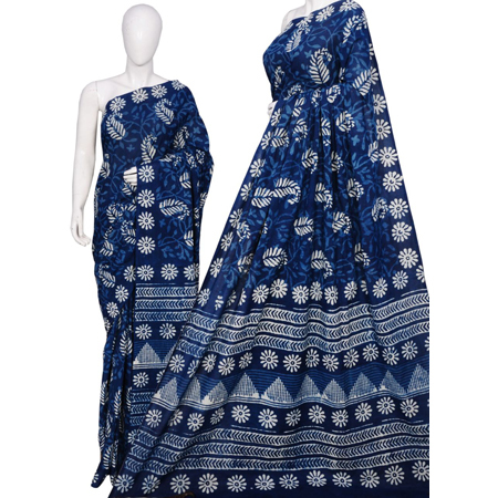 Ladies Cotton Block Print Sarees