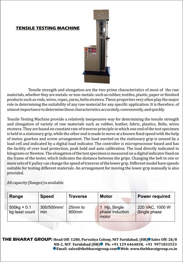 Digital Tensile Strength Testing Machine