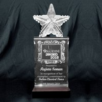 3D Crystal Personalized Corporate Gift (3D-Star)