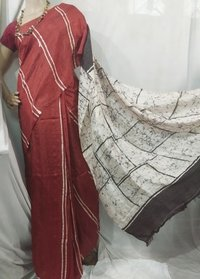 Silk batik saree
