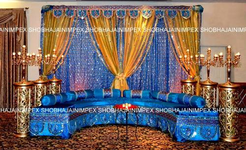 Traditional Indian Mehndi Stage Decorations