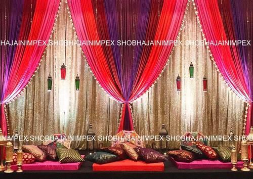 Asian Wedding Mehndi Stages Decoration