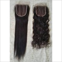 Raw  straight and curly lace closures