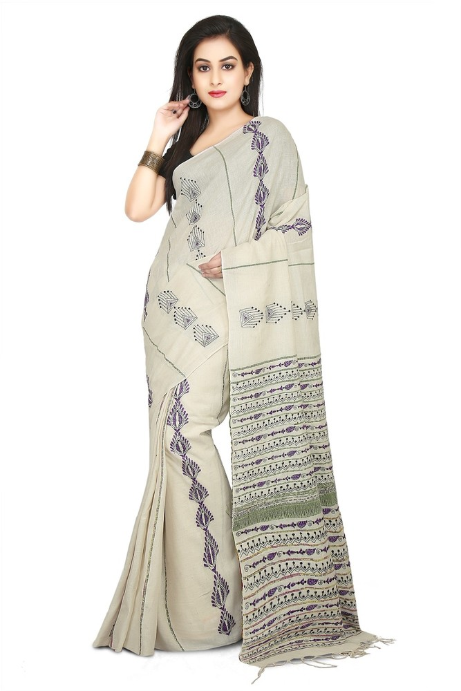 Ladies Shantiniketani Khesh related Sarees