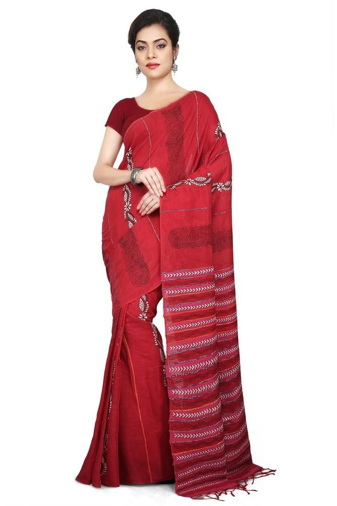 Ladies Shantiniketani Khesh related Sarees