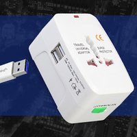 Travel plug with dual USB port