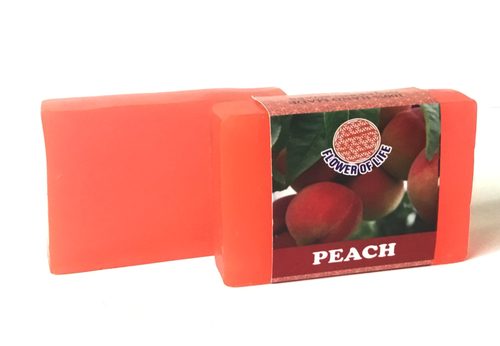 Peach glycerin soap