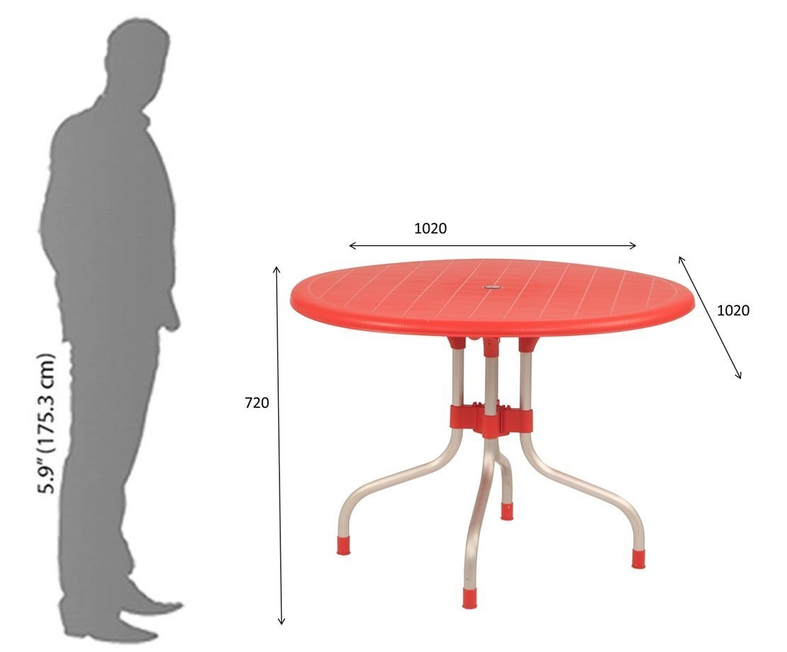 Supreme Cherry Four Seater Dining Table