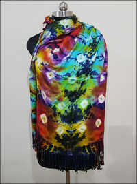 Ladies Colorful Tie And Dye Stoles
