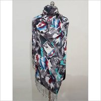 Grey Viscose Pashmina Shawl