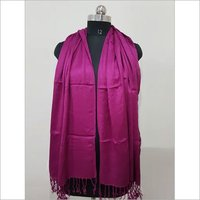 Viscose Pashmina Red Shawl