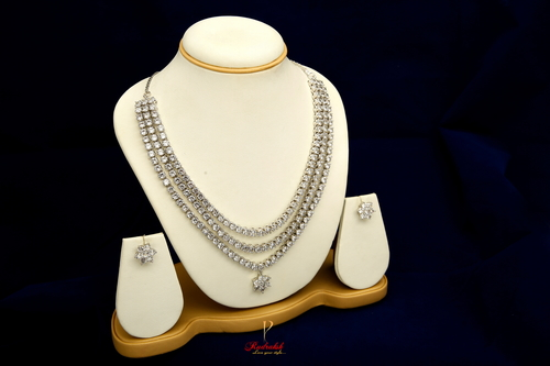 Bridal American Diamond Necklace Set