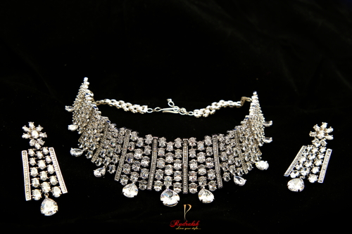 Gorgeous American Diamond Necklace Set