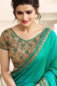 Wkart Green Paper Silk Saree