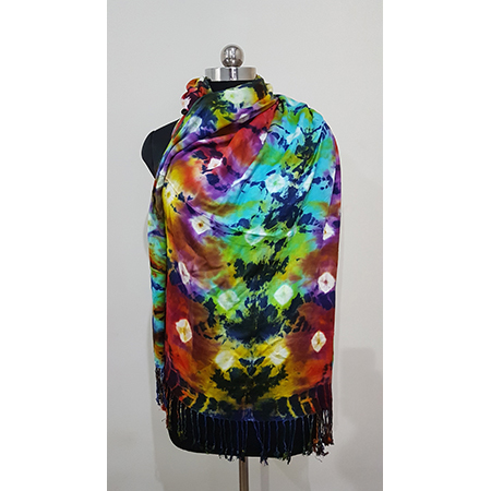 Ladies colorful tye and dye stoles