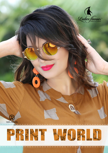 New Arrival Rayon Print Kurtis Collection Print World