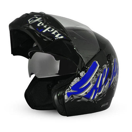 Dual Visor Flip Up Helmet