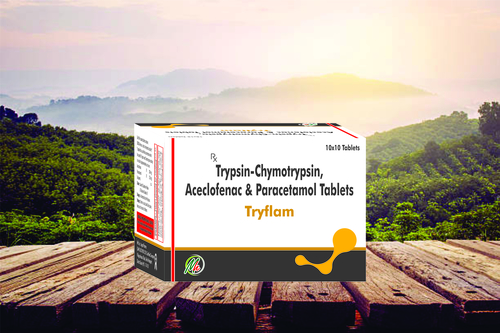 Trypsin-Chymotrypsin 50,000 Armour Units + Diclofenac Potassium 50 mg + Paracetamo 325 mg