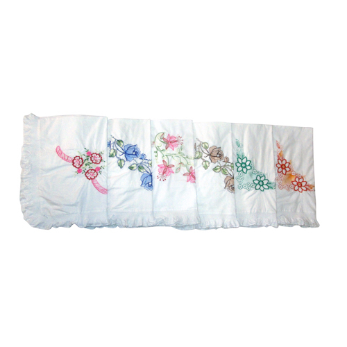 Embroidered Frill Pillow Cover