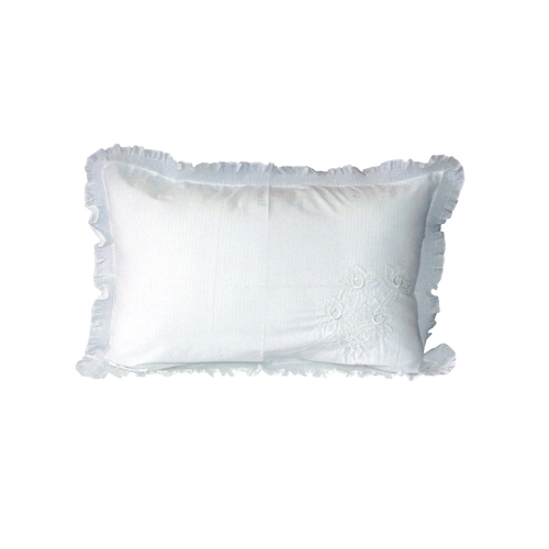 White Dory Pillow Cover