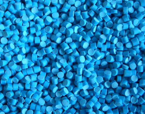 Blue pigmented HDPE pellets or resin