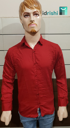 Men's plain cotton casual shirt