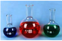 FLASKS, ROUND/FLAT BOTTOM, BOROSILICATE GLASS