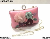3D Flower Evening Box Clutch