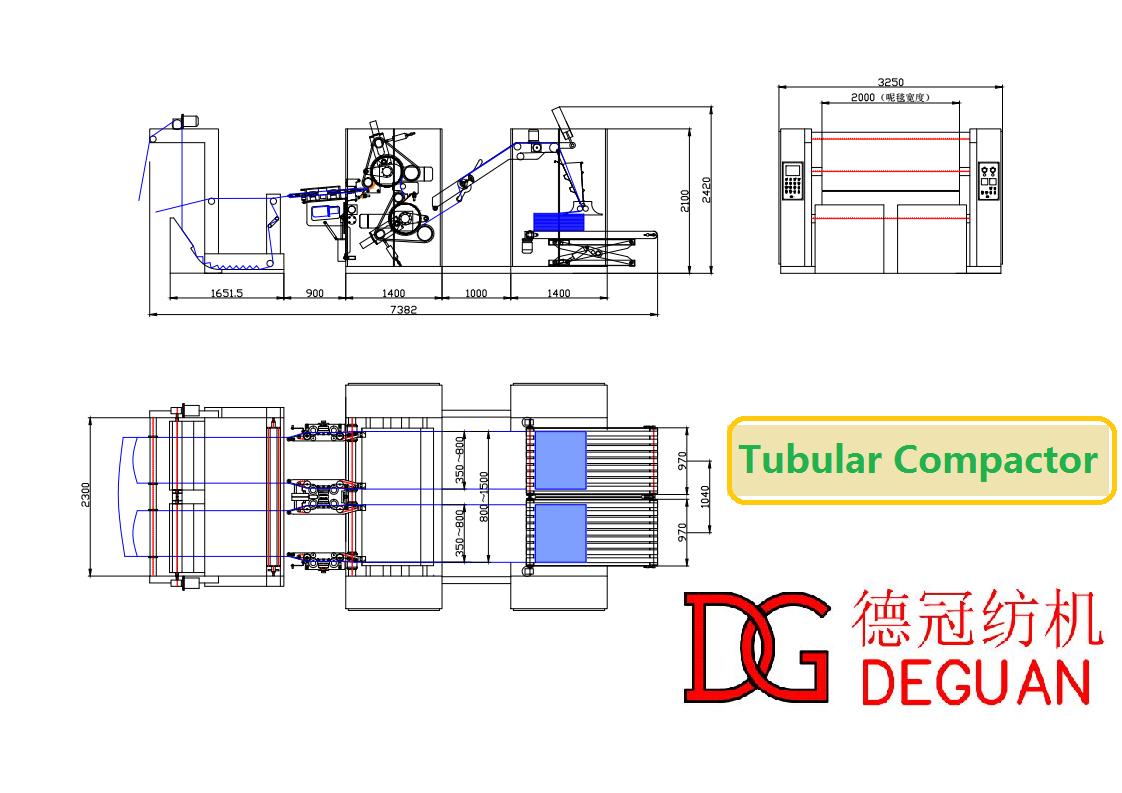 Tubular Fabric Blanket Preshrinking Machine of Textile Machinery for Textile Finishing