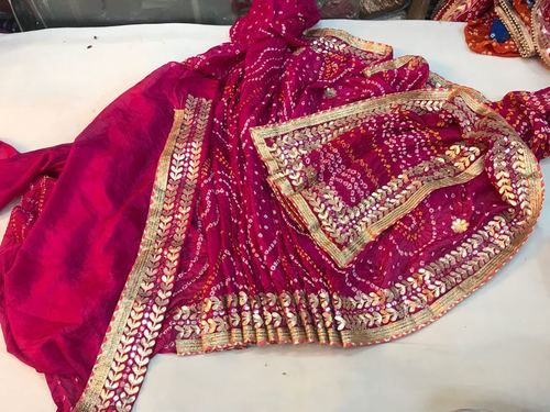 Silk Gota Work Saree