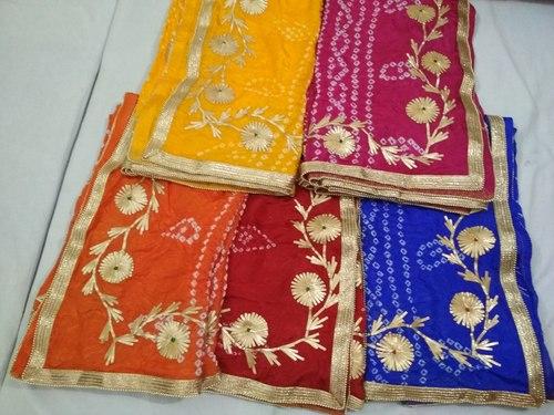 Silk Bandhej Desginer Dupatta