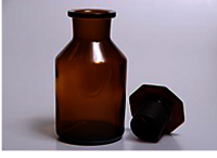 BOTTLE REAGENT, W.M. GLASS Amber Colour