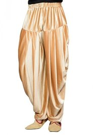 Cream Velvet Solid Men Wedding Dhoti