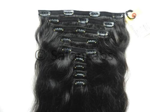 Natural Hair Clip in Extensions