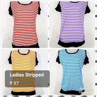 Ladies Striped T Shirts