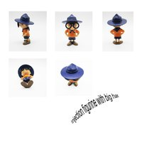 decorative polyresin figurine with big hat