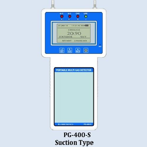 Portable Multi Gas Detector 4 Channel