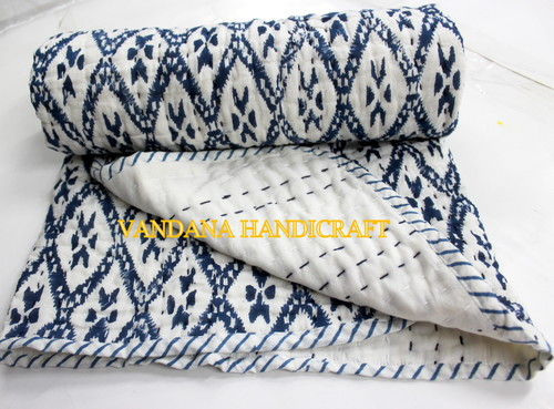 SANGANERI BLOCK PRINT BABY QUILT AND BABY BLANKET