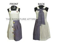 Two Piece Striped Cotton top and skirt for all ages