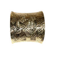 Fancy Brass Cuff Bracelet