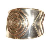Designer Brass Cuff Bracelet