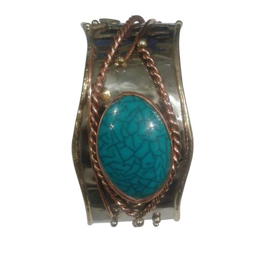 Fancy Stone Cuff Bracelet