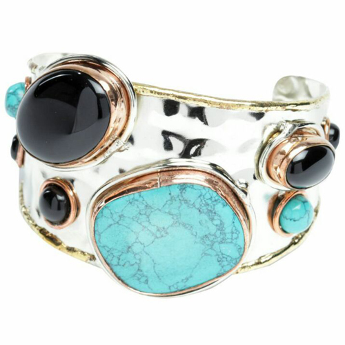 Stone Silver Bracelet