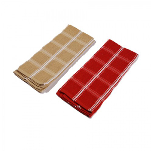 Solid Kitchen Towel - Red & Sandle