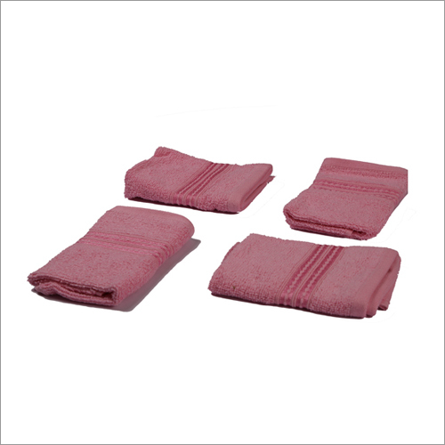 Classic wash Towel - 4 Pcs Flamingo Pink