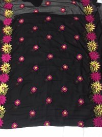 Elegant heavy embroidered george fabric