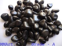 black agate polished pebbles stone